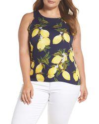Glamorous - Lemon Print Sleeveless Top (plus Size) - Lyst