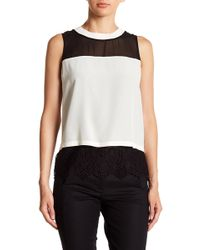 Chelsea and Walker - Mixed Media Tank Top - Lyst