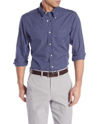 Brooks Brothers - Front Button Regent Fit Checkered Woven Shirt - Lyst