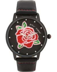 Betsey Johnson - Women's Embroidered Rose Quartz Watch, 38mm - Lyst