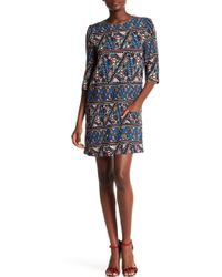Corey Lynn Calter - Cleo Print Shift Dress - Lyst