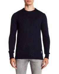 Scotch & Soda - Marled Knit Crew Neck Sweater - Lyst
