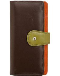 ILI - Colorblock Leather Clutch Wallet - Lyst