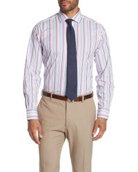 Robert Talbott - Crespi Iv Stripe Long Sleeve Tailor Fit Shirt - Lyst