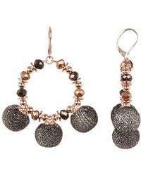 Rebecca Minkoff - High Shine Pompom Chandler Earrings - Lyst