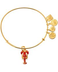 ALEX AND ANI - Charity By Design Lobster Charm Expandable Wire Bangle - Lyst