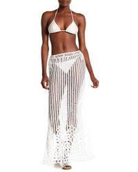 Honey Punch - Maxi Open Lace Coverup Skirt - Lyst