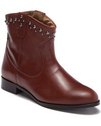 Patricia Green - Calista Leather Stud Bootie - Lyst