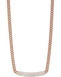 Swarovski - Vio Crystal Bar Pendant Necklace - Lyst