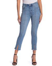 Kensie - Sky High Vintage Slim Fit Slit Cuff Jeans - Lyst