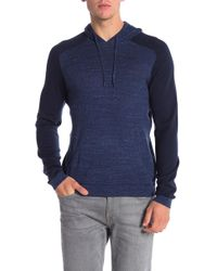 John Varvatos - Long Sleeve Saddle Shoulder Hoodie - Lyst