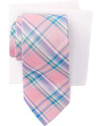 Tommy Hilfiger - Madras Check Tie & Pocket Square Box Set - Lyst
