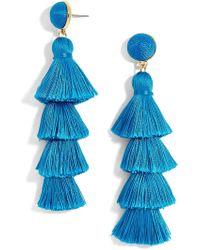 BaubleBar - Gabriela Tassel Fringe Earrings - Lyst