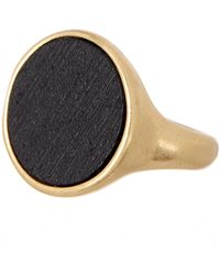 Lucky Brand - Black Wood Ring - Size 7 - Lyst