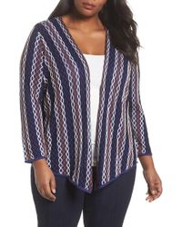 NIC+ZOE - Squiggled Up Four Way Cardigan (plus Size) - Lyst