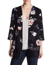 Dex - Lace Hem Patterned Kimono - Lyst