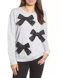 Halogen - (r) Bow Detail Sweatshirt (regular & Petite) - Lyst