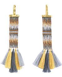 Mishky - Zamak Italian Thread Earrings - Lyst
