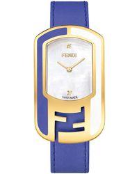 Fendi - Women's Chamelion Textured Leather Strap Watch, 29mm - 0.009 Ctw - Lyst