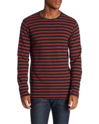 Lindbergh - Striped Ribbed Knit Long Sleeve Tee - Lyst