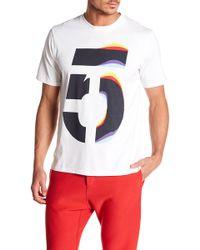 Rag & Bone - Short Sleeve Number Graphic Tee - Lyst