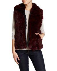 Surell - Genuine Rabbit Fur Vest - Lyst