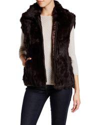 Surell - Zip-up Genuine Rabbit Fur Vest - Lyst