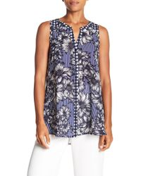 Spense - Front Button Mixed Print Tunic - Lyst