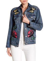 Haute Rogue - Patch Detail Denim Jacket - Lyst