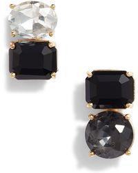Kate Spade - Double Drop Asymmetrical Cz Stud Earrings - Lyst