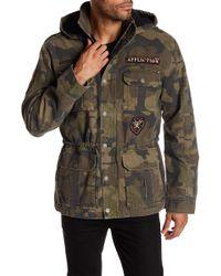 Affliction - Camo Front Zip Jacket - Lyst