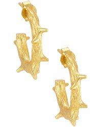 Melinda Maria - Branch Mini Hoop Earrings - Lyst