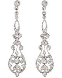 Ben-Amun - Deco Ornate Crystal Drop Earrings - Lyst