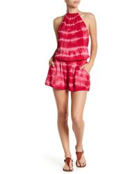 Maaji - Berry Lovely Print Cover-up Romper - Lyst