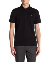 Ted Baker - Short Sleeve Textured Polo - Lyst