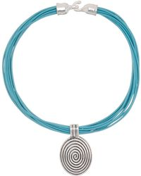 Simon Sebbag - Sterling Silver Swirl Pendant & Multi Strand Leather Cord Necklace - Lyst