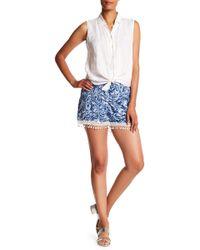 Analili - Freida Crochet Trimmed Shorts - Lyst
