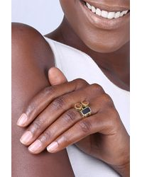 Soko - Solitaire Stacked Rings Set - Size 6 - Lyst