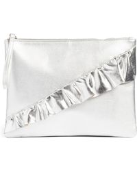 T-Shirt & Jeans - Ruffle Charging Clutch - Lyst