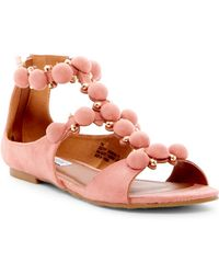 Cape Robbin - Dome Studded Ankle Strap Sandal - Lyst