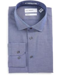 Calibrate - Trim Fit Non-iron Solid Stretch Dress Shirt - Lyst