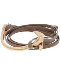 Miansai - Anchor Half Cuff On Leather Bracelet - Lyst