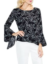Vince Camuto - Cascading Leaves Bell Sleeve Blouse - Lyst