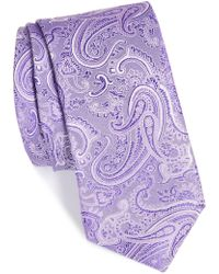Calibrate - Floating Paisley Silk Tie - Lyst