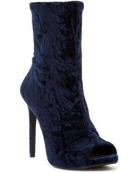 Jessica Simpson - Rainer Velvet Open Toe Boot - Lyst
