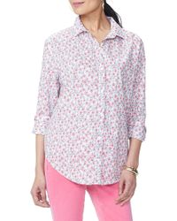 NYDJ - Classic Cotton Lawn Blouse - Lyst