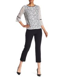 Adrianna Papell - Cuffed Slim Fit Mid Rise Pants - Lyst
