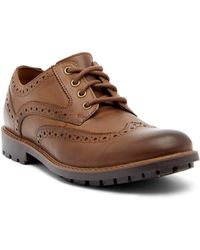 Clarks - Curington Wingtip Leather Derby - Lyst