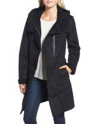 French Connection - Faux Shearling Hooded Coat - Lyst