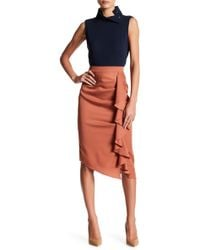 Do+Be Collection - Cascading Ruffle Pencil Skirt - Lyst